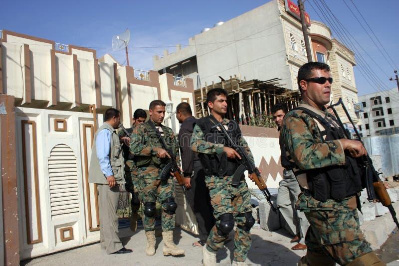 kurdyjscy żołnierze fotografia royalty free