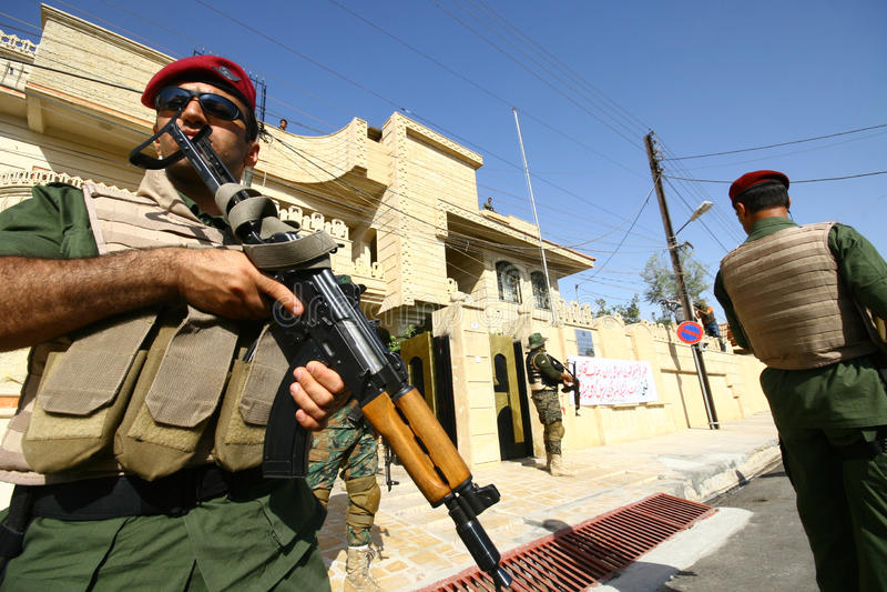 kurdyjski żołnierz obraz royalty free