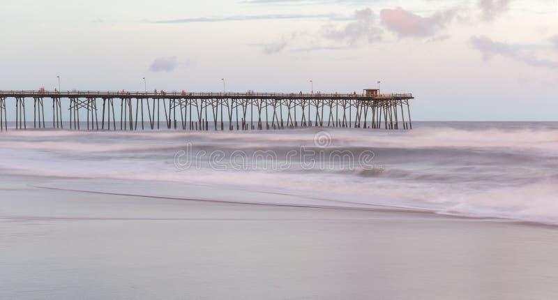 Kure-Strand, North Carolina lizenzfreies stockbild