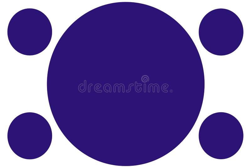 Kurenda Barwił sztandary błękitni okręgi - zmrok - Może używać dla Ilustracyjnego zamierza, tło, strona internetowa, biznesy, pre obraz stock