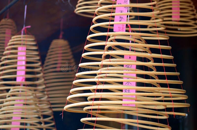 Kurenda kadzi w Chińskiej świątyni obrazy royalty free