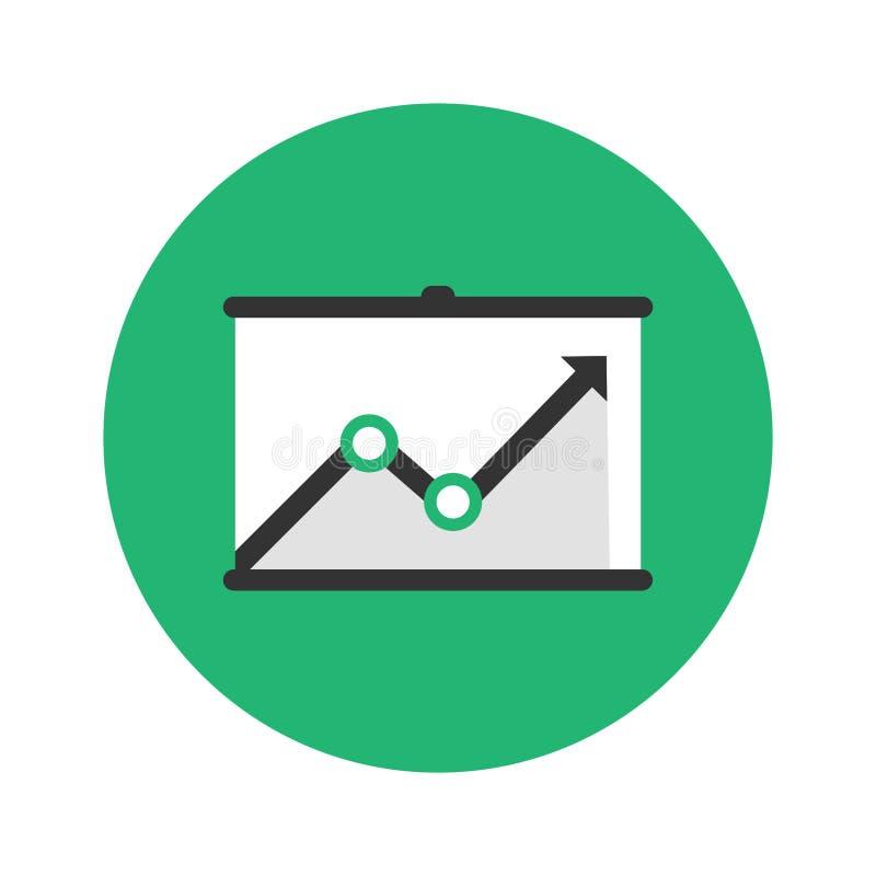 Kurenda trendu strzała up ikona W górę wykazywać tendencję diagram na zieleni royalty ilustracja