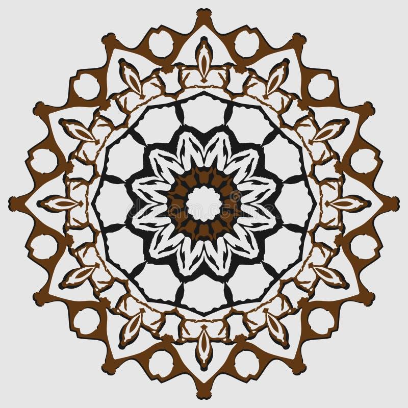 Kurenda wzór, mandala, kobiety ` s moda, dekoracja, klamra ilustracji