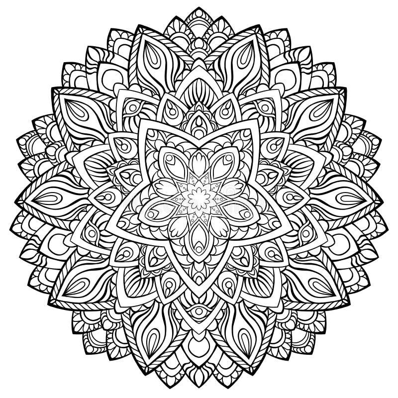 Kurenda wzór w formie mandala dla henny, Mehndi, tatuaż, dekoracja royalty ilustracja