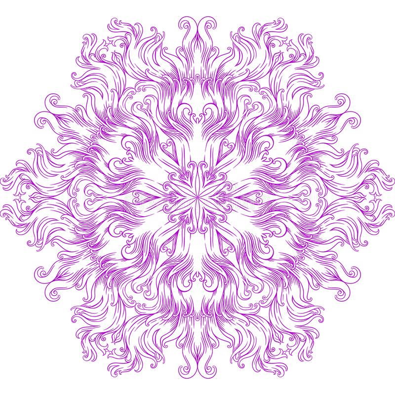 Kurenda wzór w formie mandala dla henny, Mehndi, tatuaż, dekoracja ilustracji