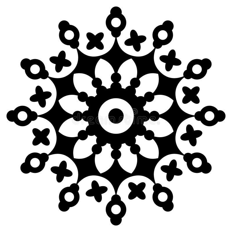 Kurenda wz?r w formie mandala ilustracja wektor