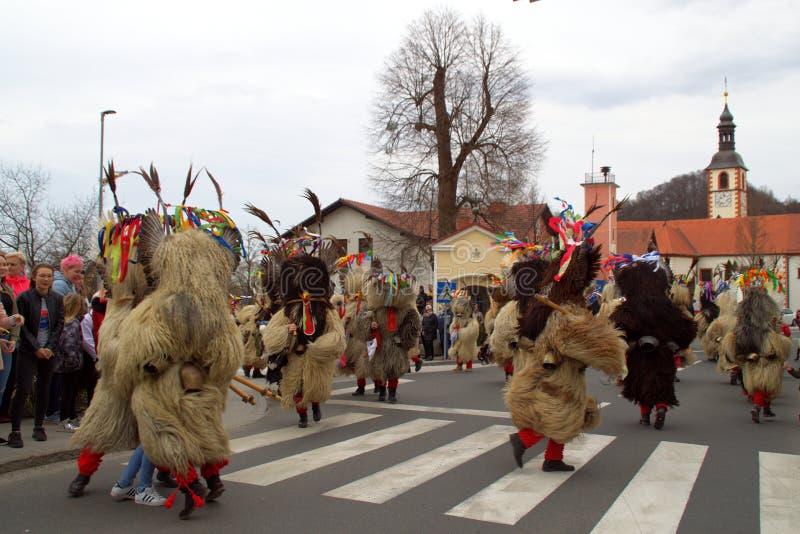Kurenti W Videm Blisko Ptuj, Slovenia zdjęcia stock