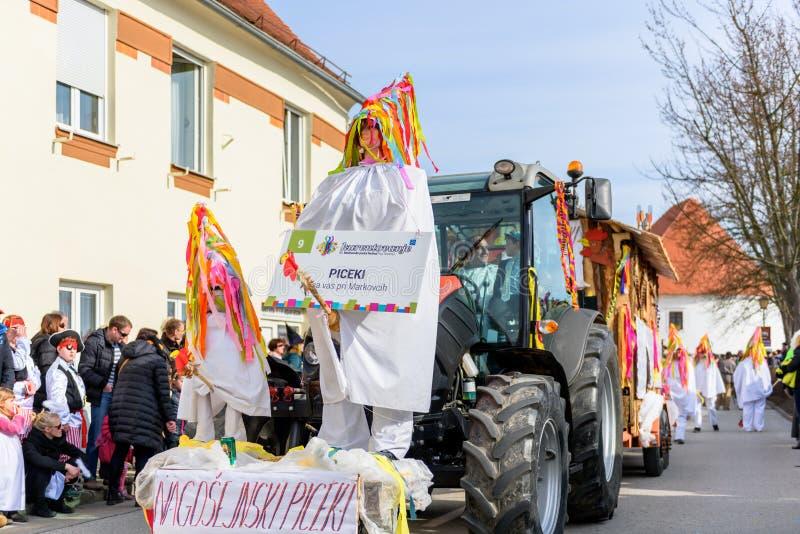 Kurents karnevalPtuj festival arkivbild