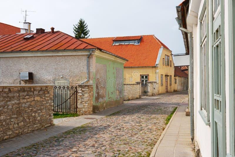 Kuressaare. Isola di Saaremaa. L'Estonia fotografia stock libera da diritti
