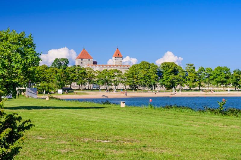 Summer view of Kuressaare castle royalty free stock photo