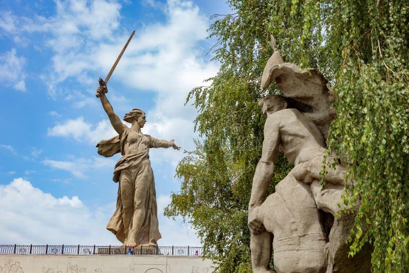 kurgan mamaev στοκ εικόνες