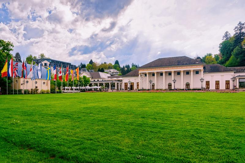 Kurhaus resort and casino house at Baden Baden in Germany stock images