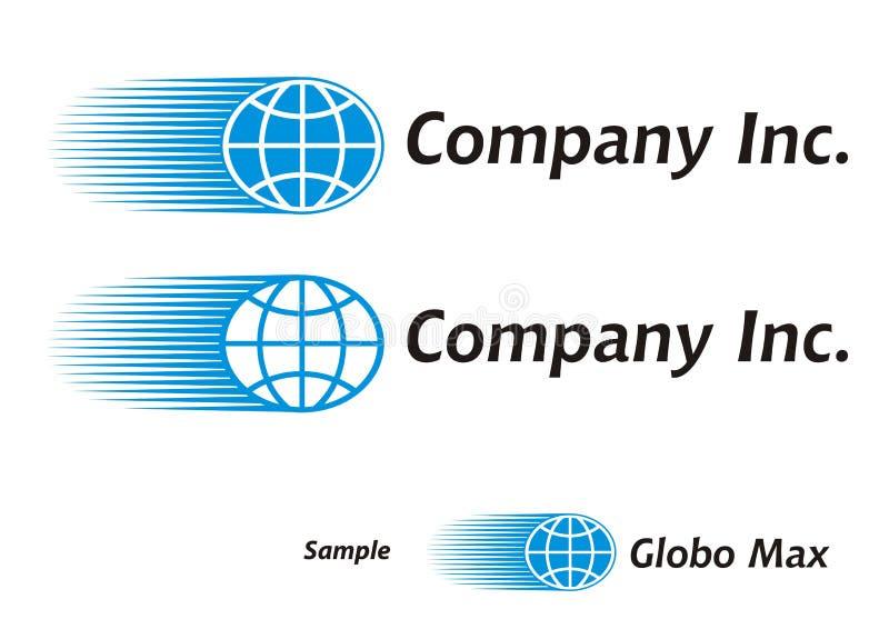 kurier globalnej logo turystyki ilustracja wektor