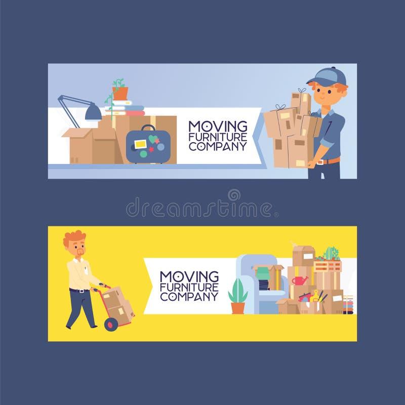 Kuriera listonosza wektorowy charakter dostarcza pakuneczka pudełko lub pakunku tła ilustracyjnego deliveryman doręczeniowa usług royalty ilustracja