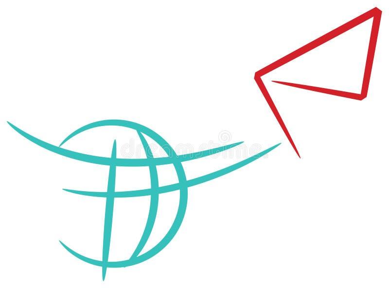 Kurierdienst vektor abbildung