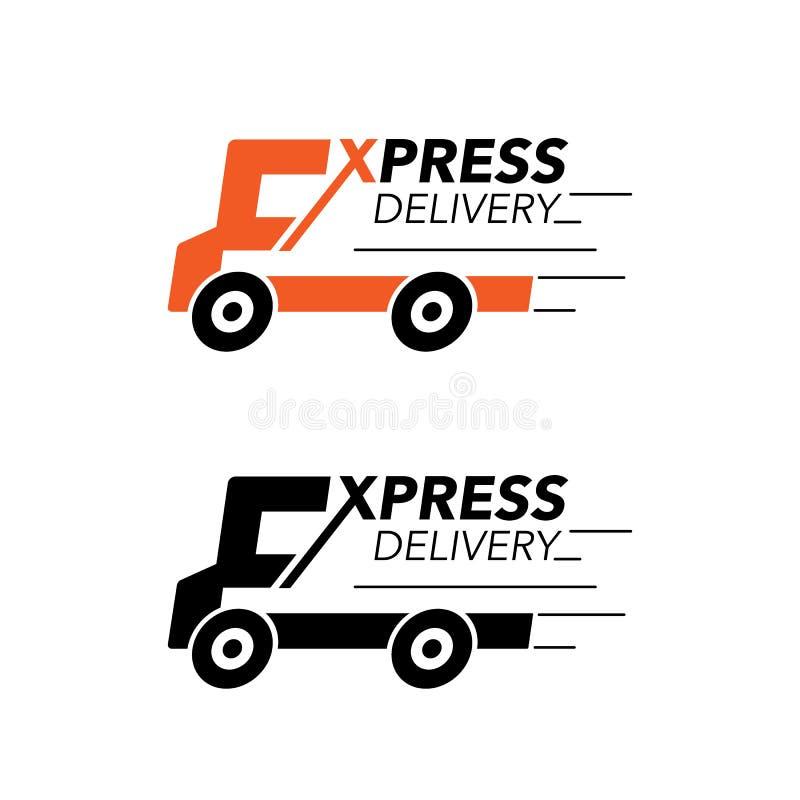 Kurierdienstikonenkonzept LKW-Service, Bestellung, weltweit, lizenzfreie abbildung