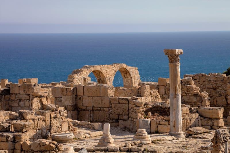 Kurion, znacząco antyczny archeologiczny zabytek w Cypr zdjęcia royalty free