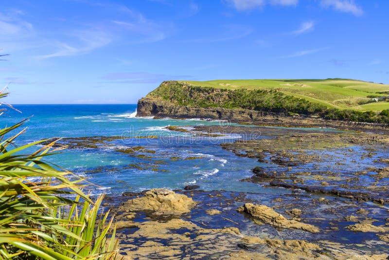Kuriositäts-Bucht in Neuseeland lizenzfreie stockfotos