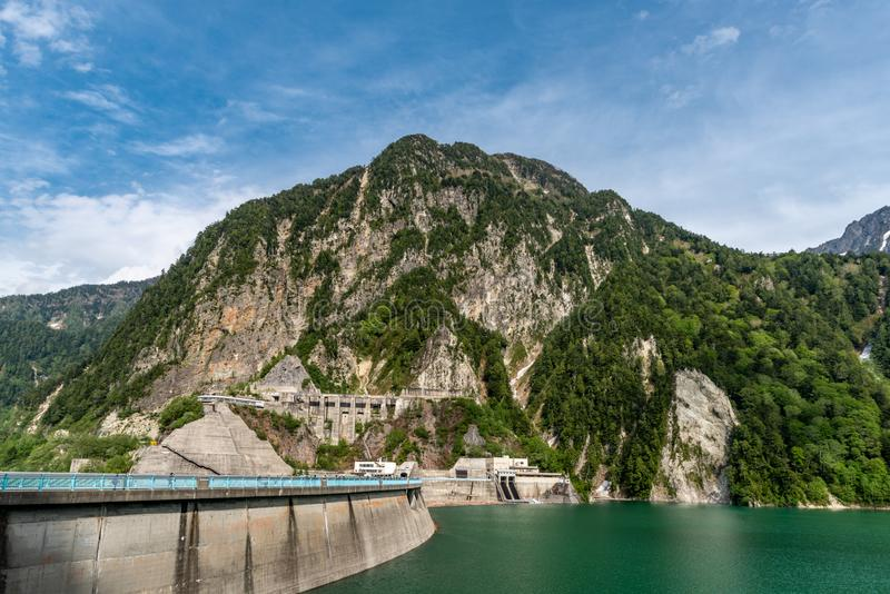 Kurobe水坝,日本 库存照片
