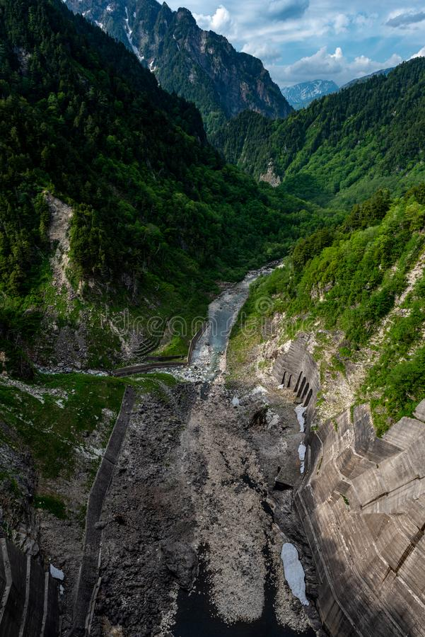 Kurobe dam, Japan royalty free stock image