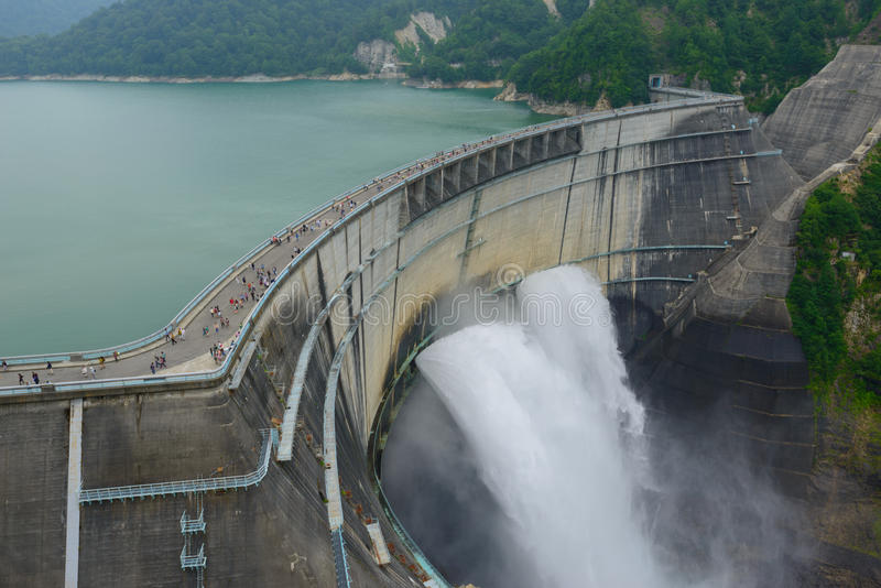 Kurobe dam in Toyama, Japan royalty free stock photos