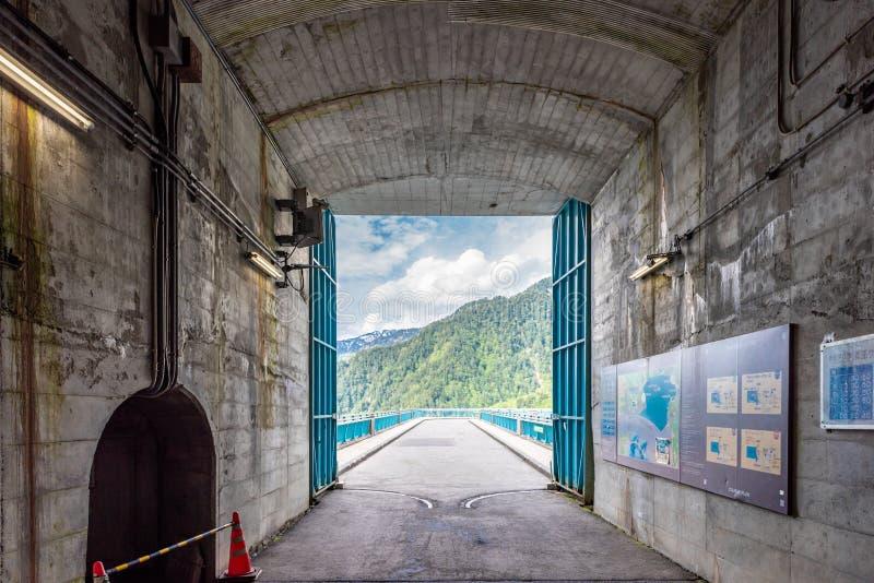 Kurobe dam tunnel stock image