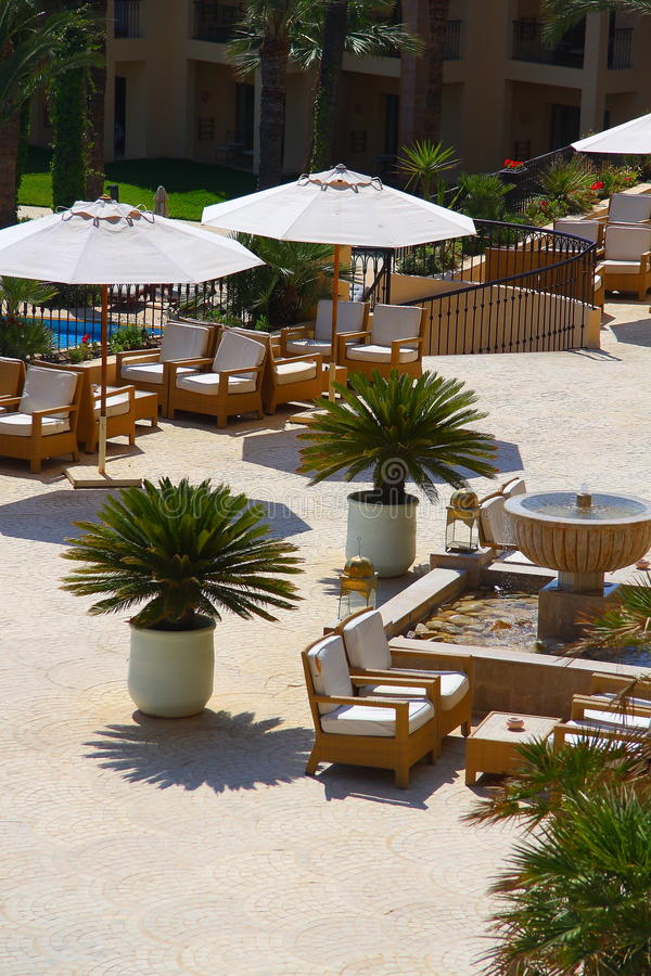 Kurort, hotel, miejsce zostawać obrazy royalty free