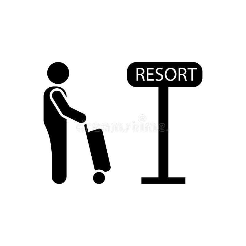 Kurort, hotel, podróż, mężczyzna ikona Element hotelowa piktogram ikona Premii ilo?ci graficznego projekta ikona podpisz symboli ilustracja wektor