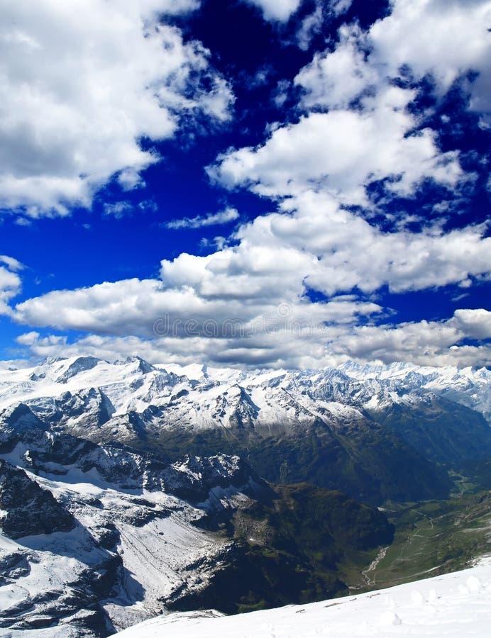 kurort krajobrazowa ski Szwajcarii obraz royalty free