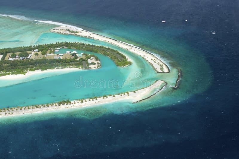 Kurort na wyspie Arial widok obrazy royalty free