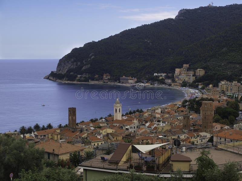 kurort nadmorski Noli w Włochy zdjęcia stock