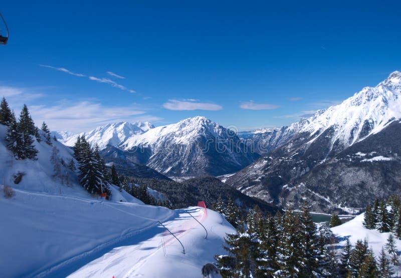 kurort wysokogórska ski zdjęcia stock