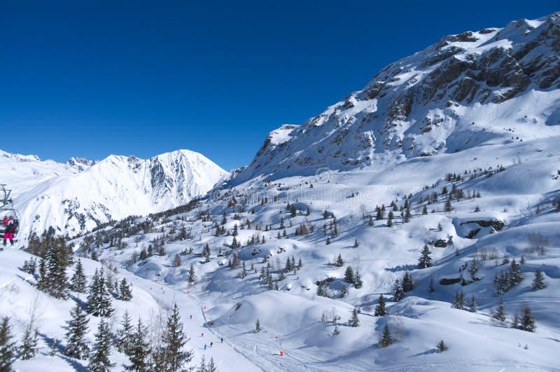 kurort wysokogórska ski zdjęcie stock