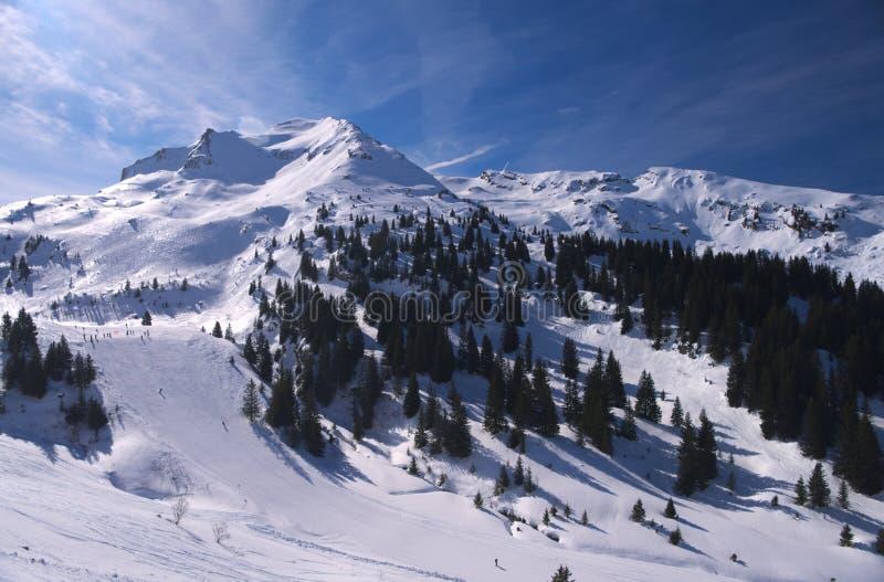 kurort wysokogórska ski obraz royalty free