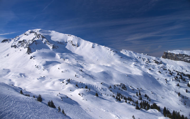 kurort wysokogórska ski fotografia stock