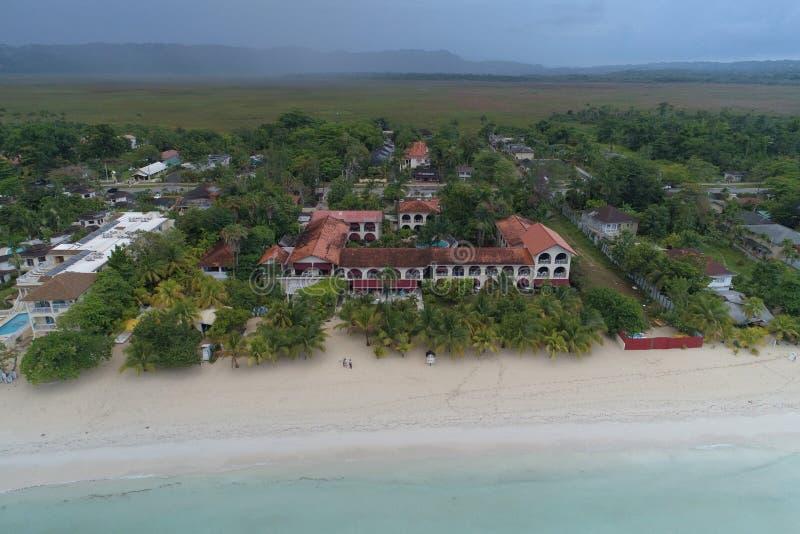 Kurortu Charela austeria Negril Jamajka obrazy royalty free