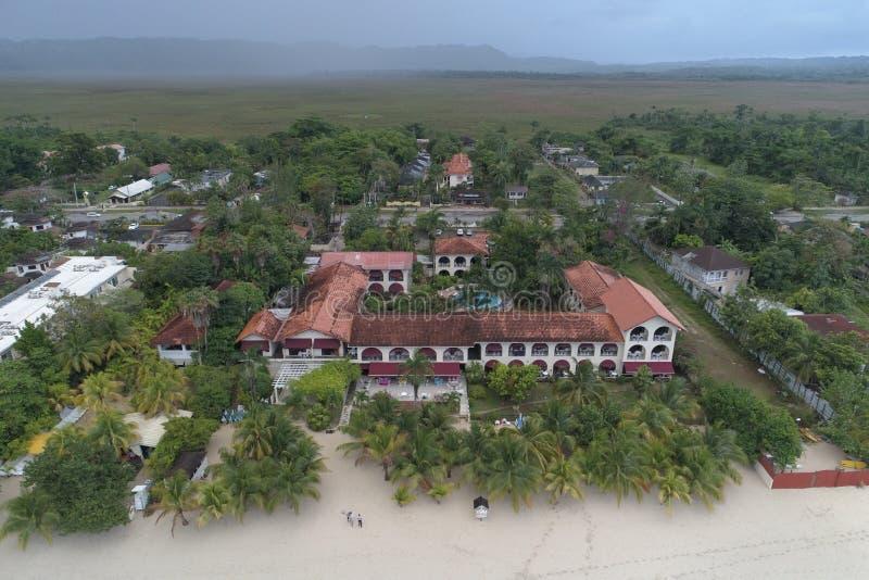 Kurortu Charela austeria Negril Jamajka zdjęcie stock