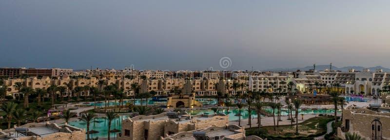 Kurortu kompleks w Hurghada, Egipt zdjęcia royalty free