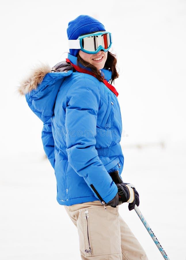 kurortu narciarscy kobiety potomstwa zdjęcia royalty free