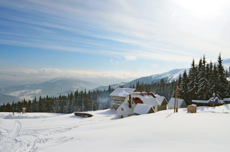 kurortu narciarstwa skłon Switzerland zdjęcie stock
