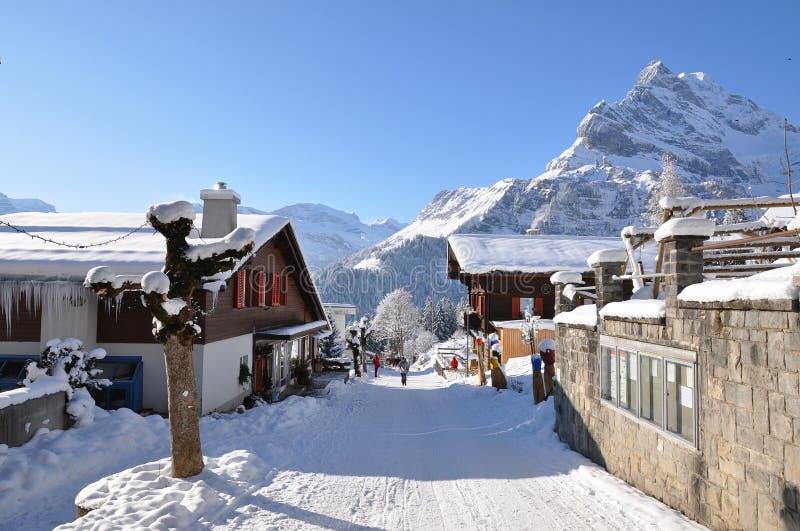 kurortu narciarstwa szwajcar zdjęcia stock