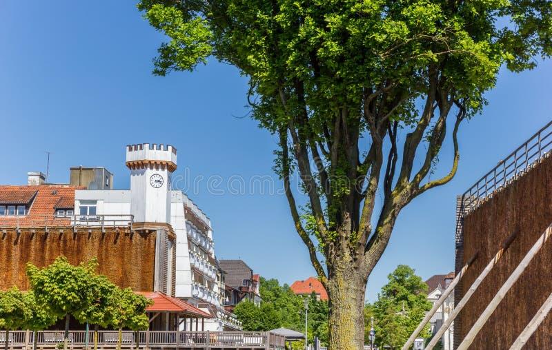 Kurpark in the historic center of Bad Salzuflen royalty free stock image