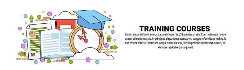 Kurs Treningowy edukaci Biznesowego pojęcia Horyzontalny sztandar Z kopii przestrzenią ilustracji