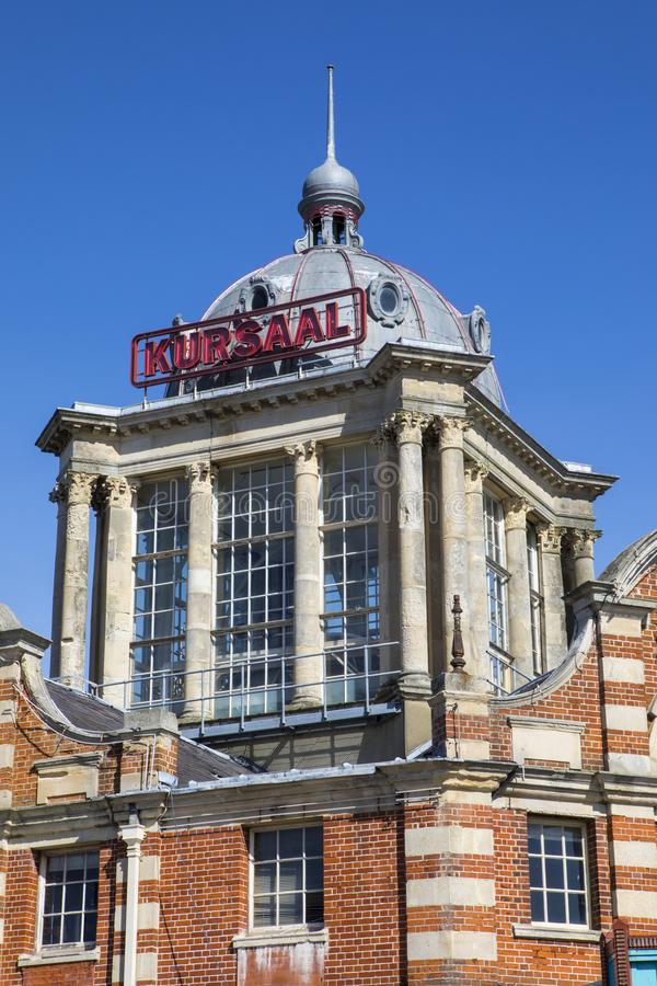 The Kursaal in Southend-on-Sea. A view of the historic Kursaal building located in Southend-on-Sea in Essex, UK. It opened in 1901 as part of one of the worlds royalty free stock images