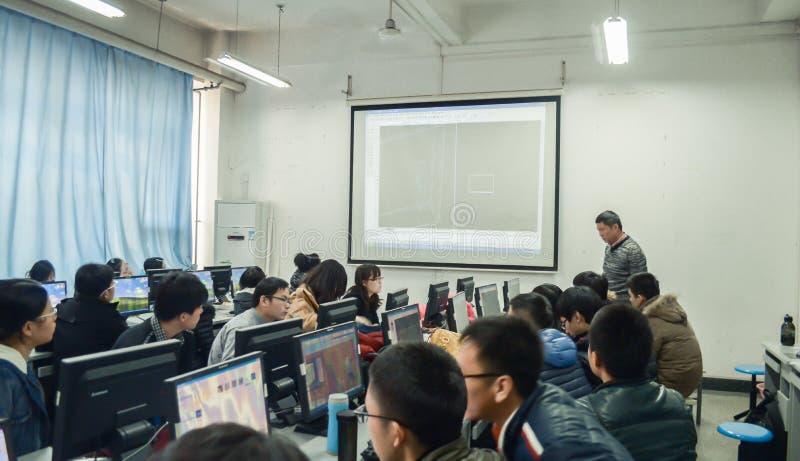 Kurser för lära för dator arkivbild