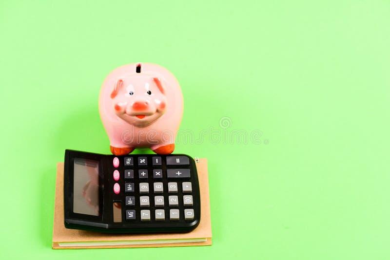 Kursiert Finanzbildung Diagramme und Feder oer Wei?hintergrund Sparschweingeldspareinlagen Bankwesen und Buchhaltung Finanzieller lizenzfreie stockfotografie