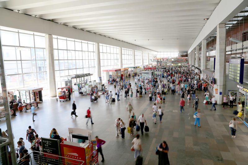 Download Kursky Kolejowy Terminal Jest Jeden Dziewięć Kolejowych Terminali W Moskwa, Rosja (także Znać Jako Moskwa Kurskaya Kolej) Obraz Stock Editorial - Obraz złożonej z pasażer, moscow: 57669754