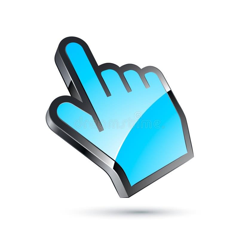kursor błękitny ręka
