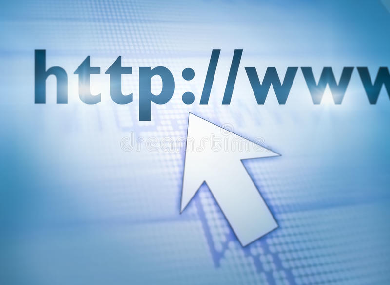 Kursor Wskazuje sieć obraz royalty free