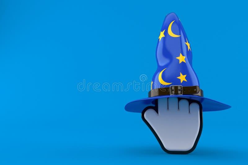 Kursor z czarownika kapeluszem ilustracja wektor